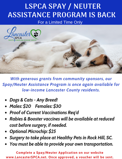 LSPCA SPAY _ NEUTER PROGRAM IS BACK v4 0