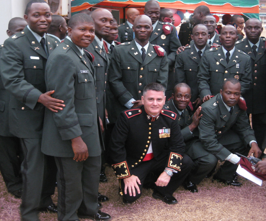 Anthony C Fabiano at Armed Forces of Liberia (AFL) Gala event