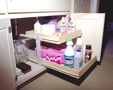 Custom Slide Out Shelves for Bathrooms