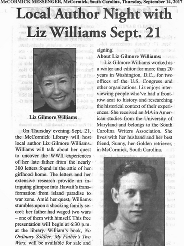 Event clipping Local Author Night with Liz Williams