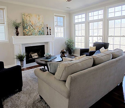 Well decorated living room