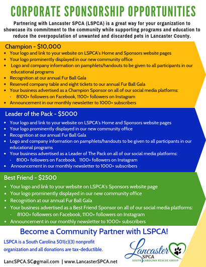 LSPCA Corporate Sponsorship Opportunities