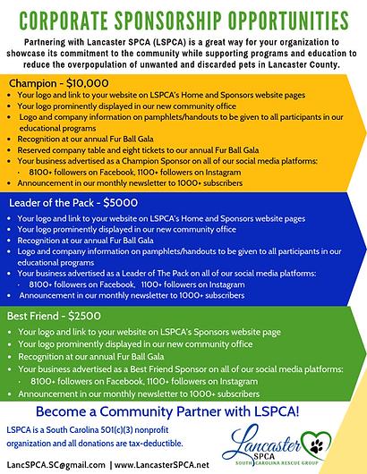 LSPCA Corporate Sponsorship Opportunities
