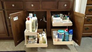 Bathroom Pull Out Shelves Slide Out Shelf Solutions