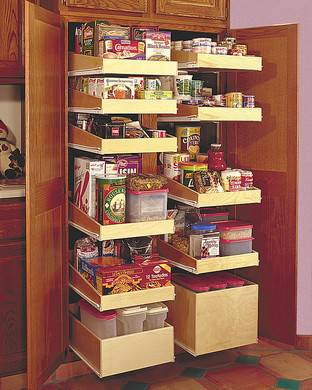 Pantry Cabinet Pull Out Shelves