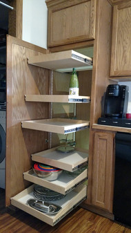 Pantry Pull Out Shelves can double your storage