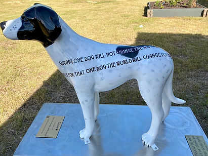Statues installed at the new Lancaster County Animal Shelter by the Lancaster County Council of the Arts