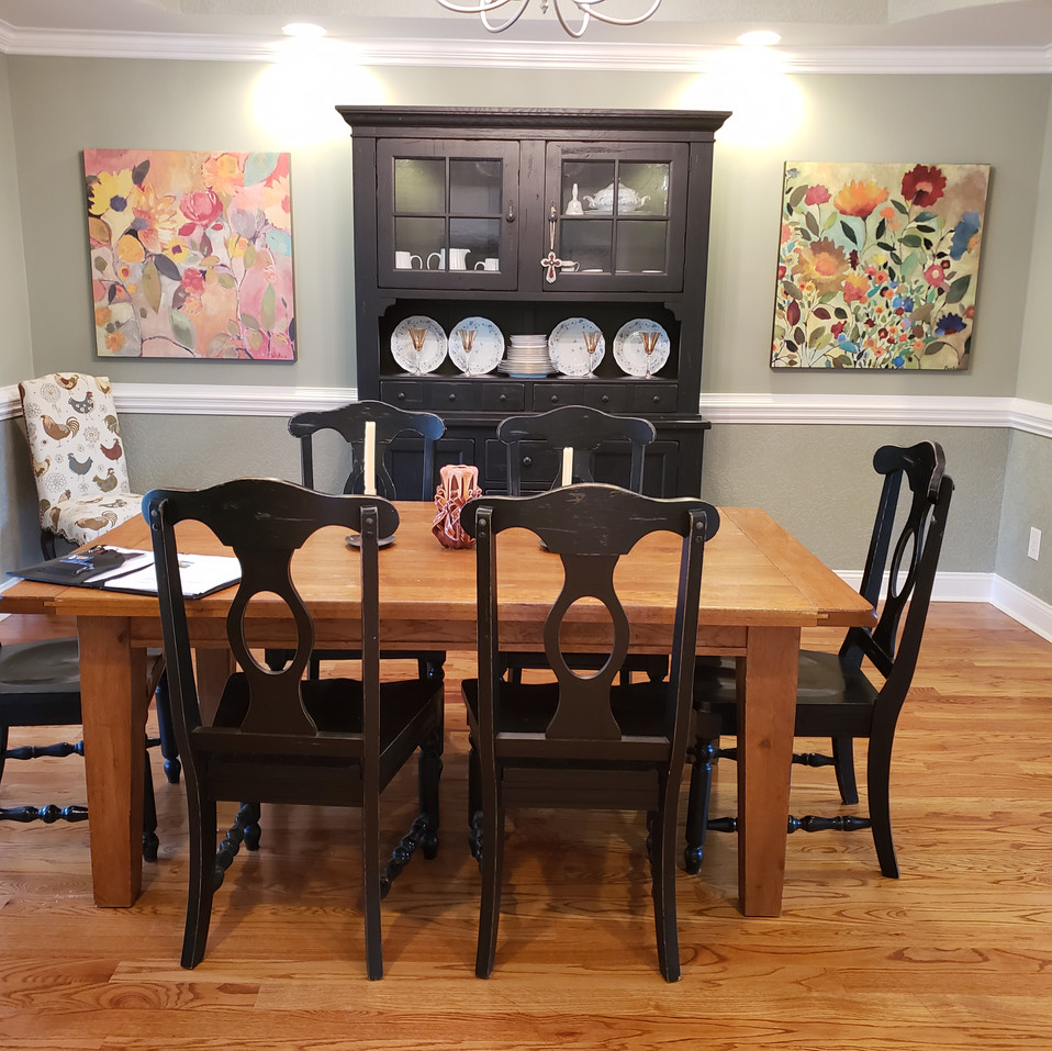 Dining Room pre-staged