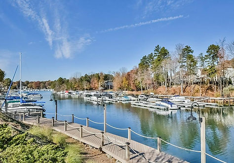 Boat and Dock on Lake Norman