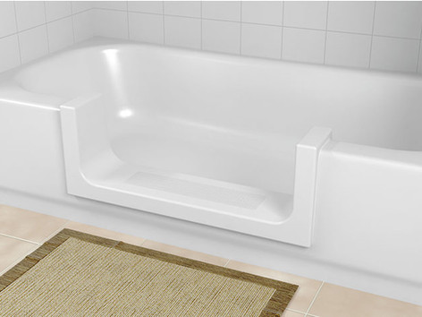 White Step-in Tub Cut-Out by The Best Home Guys of Wichita, KS