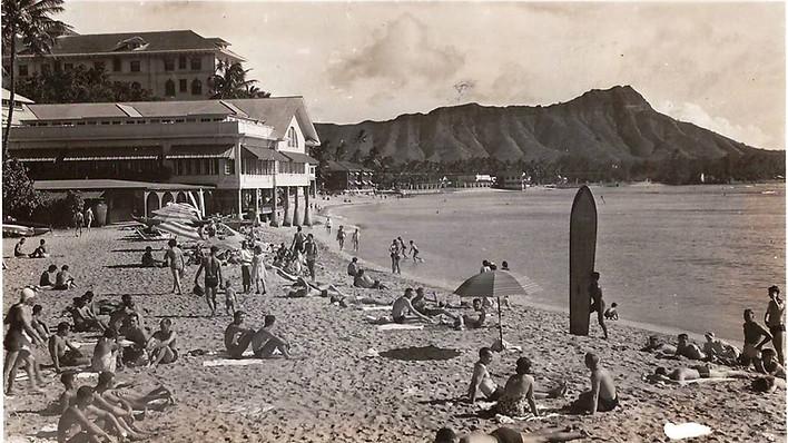 2. Servicemen enjoying Waikiki Beach