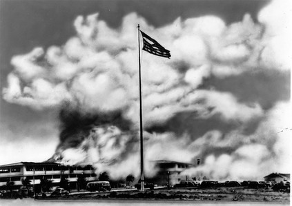 9. My dad's original photos of the wreckage at Hickam after the bombing