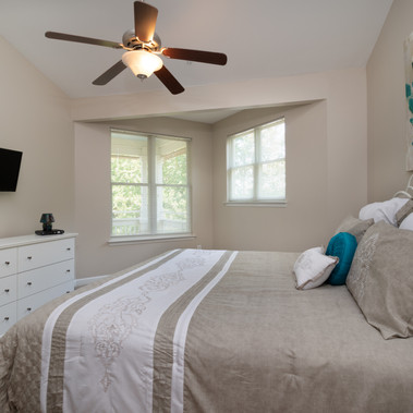 Bedroom post-staged