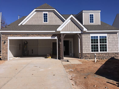 New construction home nearly completed