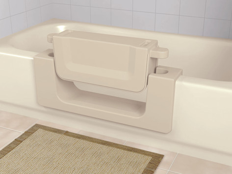 Available is beige and white. The CleanCut Convertible features a removable water-tight insert to easily transition from shower to full bath. The Best Home Guys of Wichita, KS