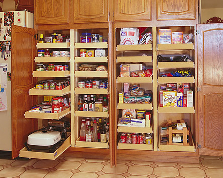 Pantry Organization with Pull Out Shelves