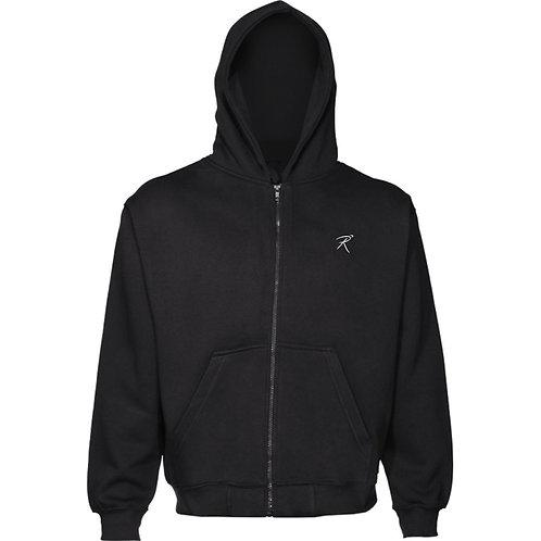 Kid's Black Unisex Zipped Hoodie