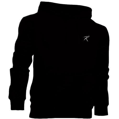 R Logo Hoodie - Black
