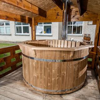 Bain nordique en bois Ø 2,2