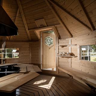 Kota grill 16,5 m² avec espace sauna
