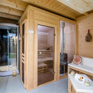 Sauna horizontal avec salle de séjour 3 x 4
