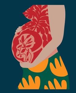 """Ilustraciones para el libro """"Amelia, de saberes y partos"""" de Alejandra Becerra, editorial Pehuén."""