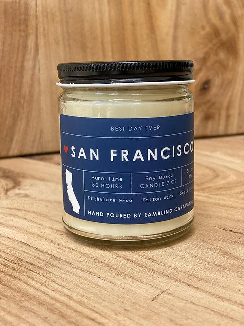 San Francisco, California Candle
