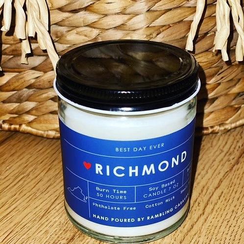 Richmond, Virginia Candle