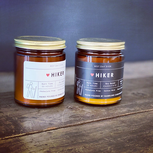 Hiker candle