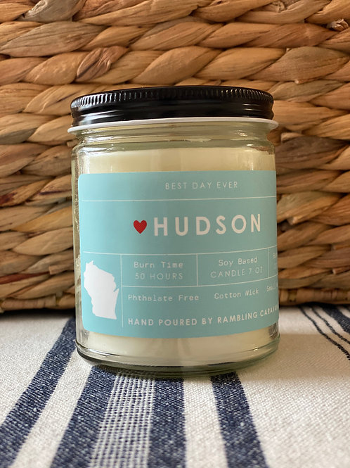 Hudson, Wisconsin Candle