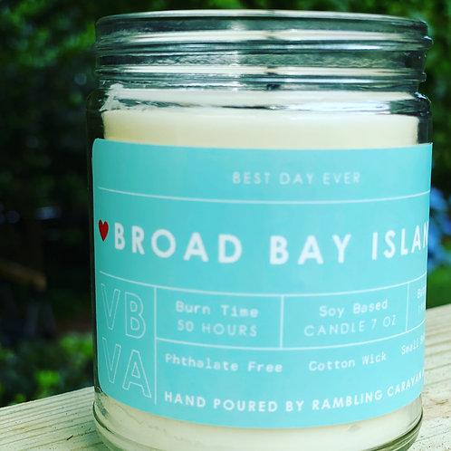 Broad Bay Island, Virginia Beach, Virginia Candle