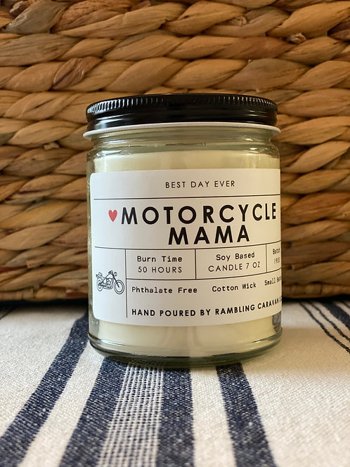Motorcycle Mama Candle
