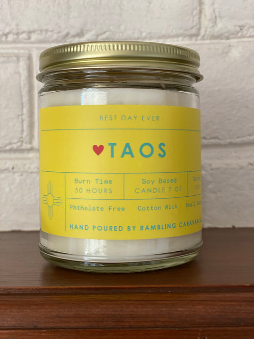 Taos, New Mexico Candle