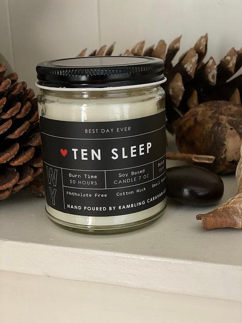 Ten Sleep, Wyoming Candle