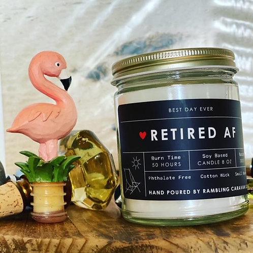 Retired AF Candle