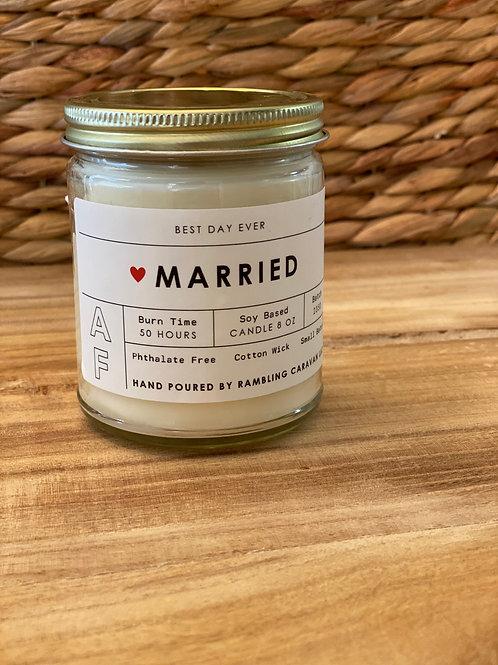 Married AF Candle