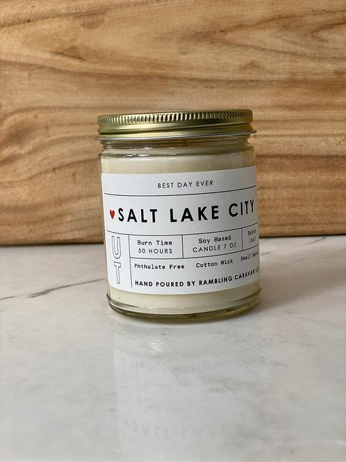 Salt Lake City, Utah Candle