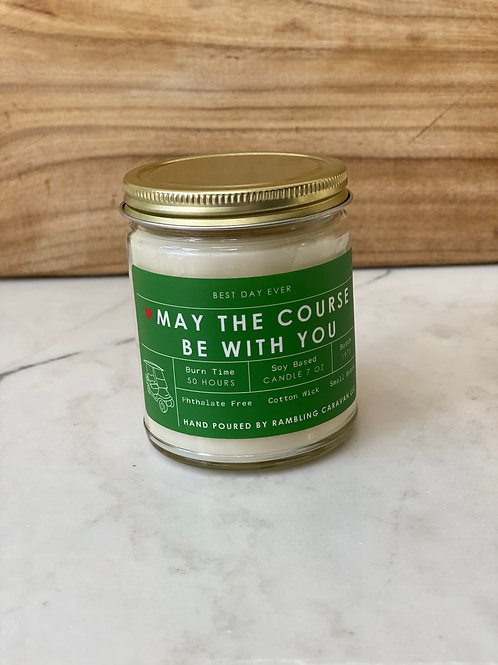May The Course Be With You Candle