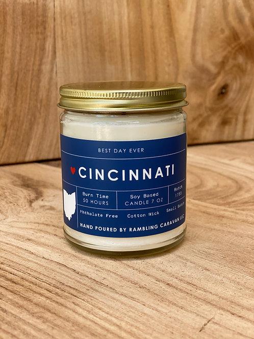 Cincinnati, Ohio Candle
