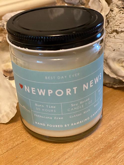 Newport News, Virginia Candle