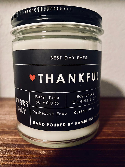 Thankful Every Day Candle