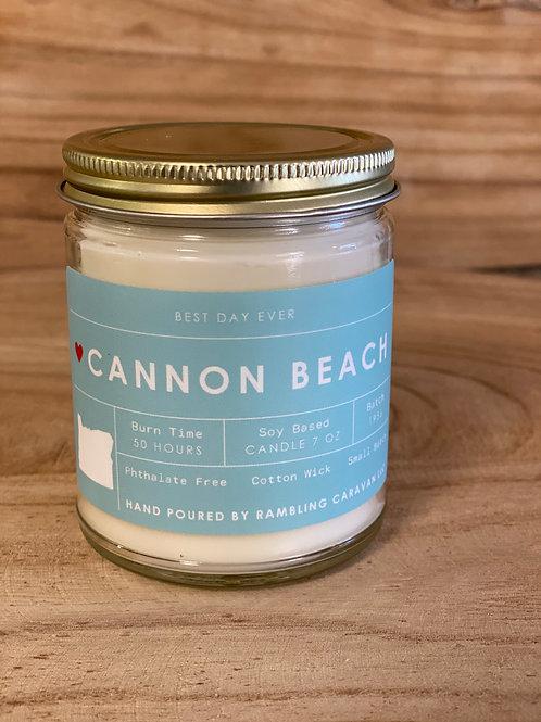 Cannon Beach, Oregon Candle