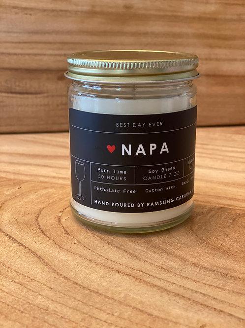 Napa, California Candle