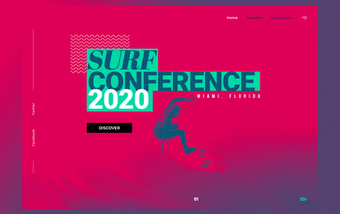 Surf Conference - Landing Page