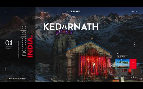 Incredible India Landing page - Adobe XD & Photoshop