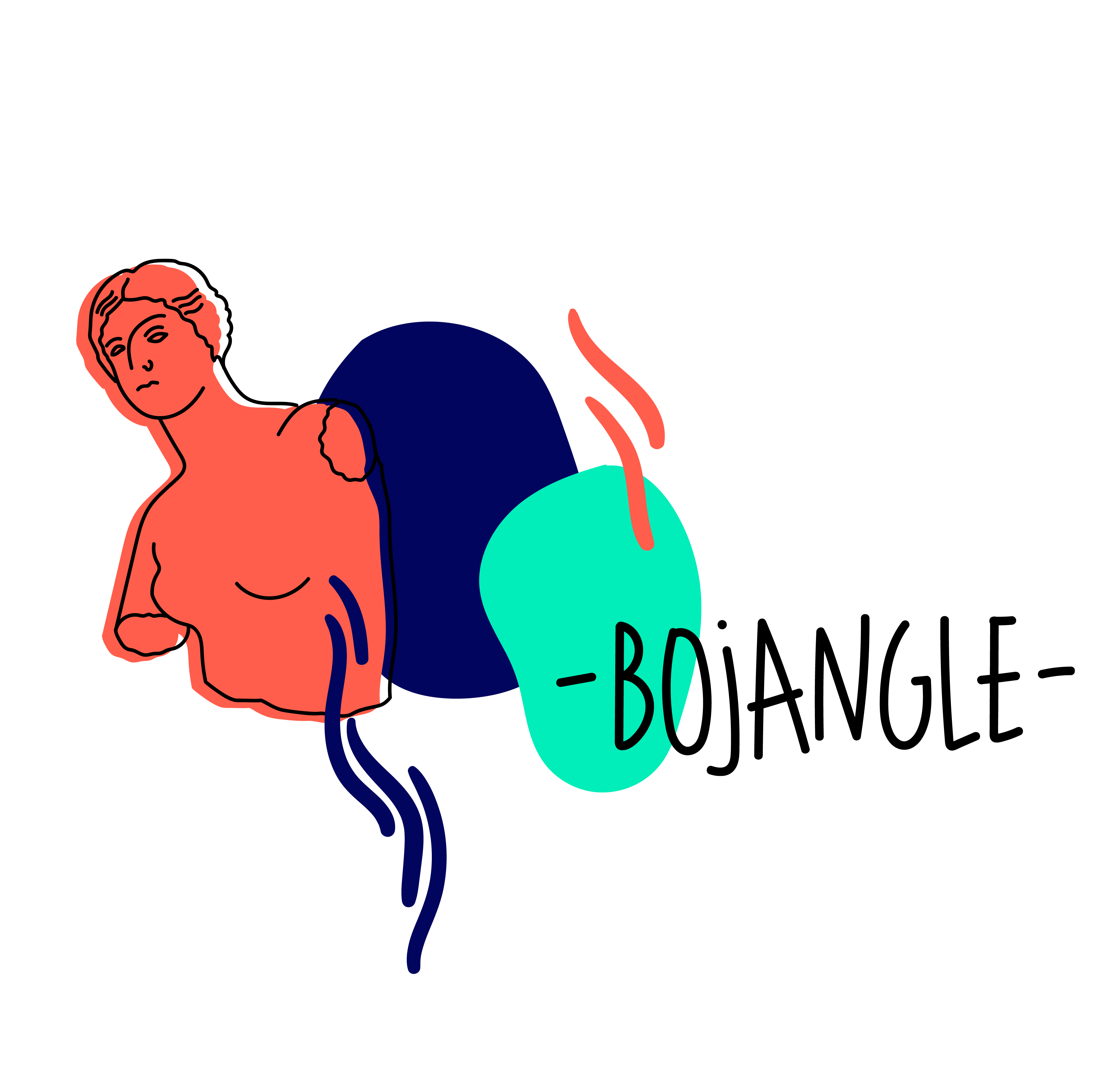 Illustration for Bojangle label