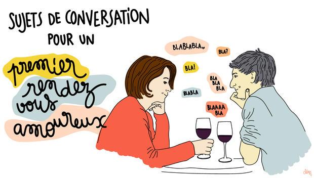 sujet conversation rendez vous amoureux