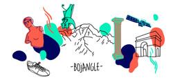 Illustration for Bojangle label