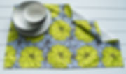 Dahlia LIme Brown Tea Towel.jpg