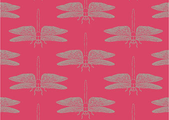 Detailed Dragonfly Rubine greeting card